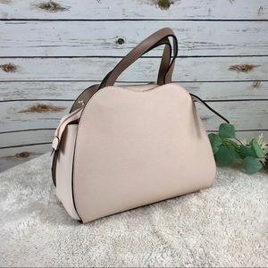 cb2d383d43 NICOLI Bags - NICOLI Two Tone Satchel Handbag Italian Leather